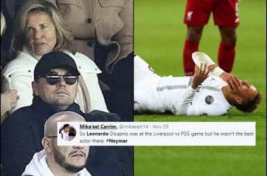 Neymar, Leonardo DiCaprio, PSG vs Liverpool, Liverpool vs PSG, Champions League 2018, Neymar antics, Neymar fouled, Neymar trolled, Neymar faking injury