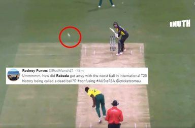 Kagiso Rabada, Kagiso Rabada dead ball, Glenn Maxwell angry, Maxwell-Rabada, Worst delivery of all time, Bizarre cricket balls, Australia vs South Africa 1st T20I, AUS v SA, SA vs AUS, South Africa's tour of Australia 2018
