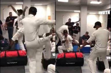 New Zealand players Bhangra, Cricketers dance, Cricketers Bhangra, Ish Sodhi Bhangra, Jeet Ravat Bhangra, Pakistan vs New Zealand 1st Test 2018, New Zealand vs Pakistan 1st Test, PAK v NZ, NZ v PAK
