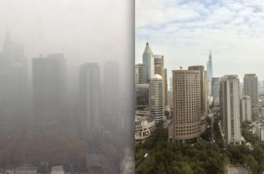 china smog before and after