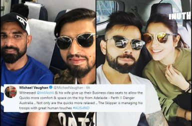 Virat Kohli, Anushka Sharma, Kohli business class tickets, Adelaide Test, Perth Test, Adelaide to Perth flight, Virat Kohli gesture, Virushka wedding anniversary, India's tour of Australia 2018-19, India vs Australia 1st Test, IND v AUS, AUS v IND