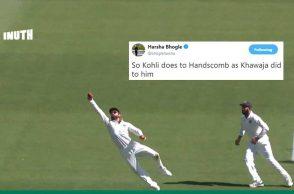 Virat Kohli catch, Usman Khawaja catch, Virat Kohli best catch, Virat Kohli best catches, India vs Australia 2018, Australia vs India 2018, Australia's tour of India 2018, Peter Handscomb, Ishant Sharma, Perth Test, IND v AUS 2nd Test, AUS v IND 2nd Test
