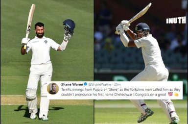 Cheteshwar Pujara, Cheteshwar Pujara 5000 runs, Cheteshwar Pujara 123 vs Australia, India vs Australia Adelaide Test, Australia vs India 1st Test, IND v AUS 1st Test, AUS v IND 1st Test, Australia's tour of India 2018 Sony Six, Pujara Adelaide Century reactions