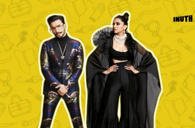 ranveer singh, deepika padukone, ranveer deepika star screen awards 2018, bollywood, celebrity fashion, gothic glam, gangsta