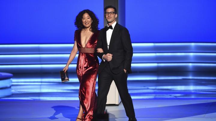 Sandra Oh,Andy Samberg, golden globes