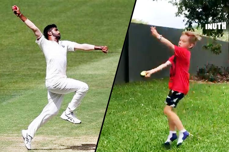 Aussie Kid Trying To Copy Jasprit Bumrah's Bowling Action Has Made The 1990s Kid In Us Proud