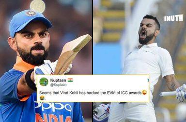Virat Kohli ICC Awards, Virat Kohli cricketer of the year, Test cricketer of the year 2018, ODI cricketer of the year 2018, Virat Kohli funny, ICC Awards 2018, Garfield Sobers Trophy, ICC cricketer of the year