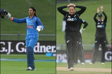 Smriti Mandhana, Smriti Mandhana 4th Century, Smriti Mandhana century vs NZ, White Ferns, New Zealand Women vs India Women, India Women vs New Zealand Women, Jemimah Rodrigues maiden 50