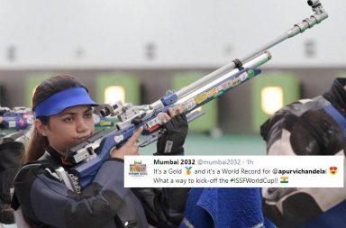 Apurvi Chandela, Apurvi Chandela gold medal, Apurvi Chandela ISSF World Cup, Apurvi Chandela world record, Apurvi Chandela 252.9 points, Apurvi Chandela 10m Air Rifle, Apurvi Chandela Jaipur