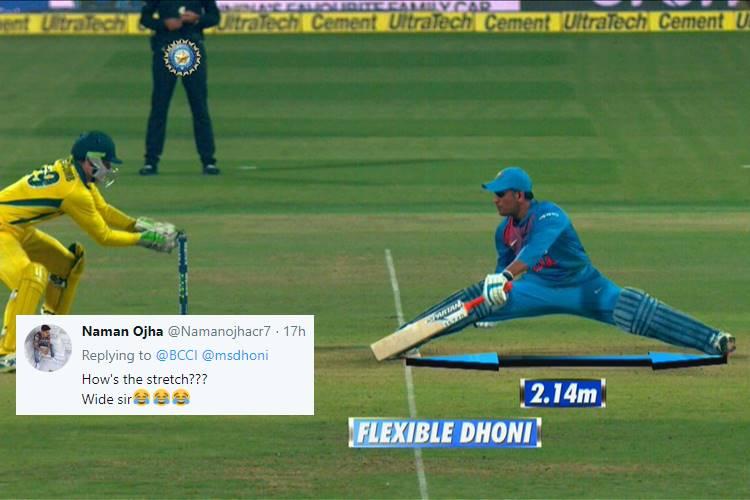 MS Dhoni, MS Dhoni stretching, MS Dhoni elasticity, MS Dhoni stumping, India vs Australia 2nd T20I 2019, Australia vs India 2nd T20I 2019, Australia's tour of India 2019, Adam Zampa, Peter Handscomb