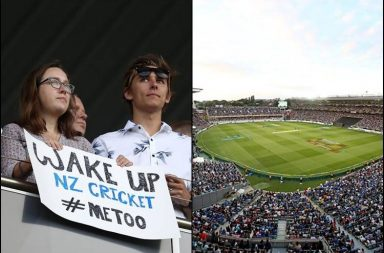 Scott Kuggeleijn metoo, Scott Kuggeleijn rape case, Scott Kuggeleijn trial, Scott Kuggeleijn rape accused, Scott Kuggeleijn New Zealand, New Zealand vs India 2nd T20I, Metoo posters Auckland, India vs New Zealand 2nd T20I 2019, NZ v IND 2nd T20I, IND v NZ 2nd T20I