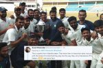 Irani Cup Winners Donate Prize Money As Tribute To Martyred Soldiers