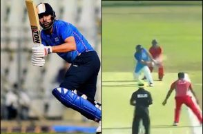 Yuvraj Singh, Yuvraj Singh reverse sweep, Yuvraj Singh Air India, Air India vs Malives cricket, Yuvraj Singh Mumbai Indians, Yuvraj Singh IPL 2019