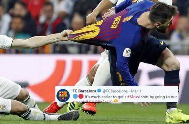 Luka Modric, Lionel Messi, Modric grabbing Messi's shirt, Messi grabbing Modric's jersey, El Classico 2019, Barcelona vs Real Madrid 2019, Real Madrid vs Barcelona 2019