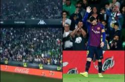 Lionel Messi hattrick, Lionel Messi vs Real Betis, Barcelona vs Real Betis 2019, Real Betis vs Barcelona 2019, La Liga 2019, Real Betis fans Messi, Real Betis fans standing ovation