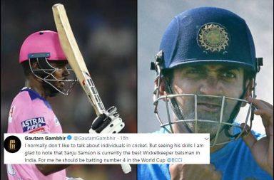 Gautam Gambhir, Gambhir-Dhoni, MS Dhoni, Gambhir-Pant, Rishabh Pant, No.4 conundrum, Sanju Samson, Gambhir-Samson, IPL 2019, Samson century vs SRH