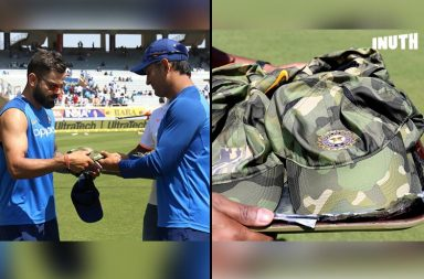 Team India Army Caps, India vs Australia 3rd ODI, Australia vs India 3rd ODI, Ranchi ODI, Australia's tour of India 2019, Team India donation army. Pulwama attack, CRPF martyrs