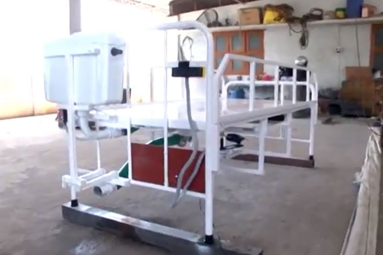 This TN Welder Bagged Innovation Prize For 'Remote-operated Toilet Bed'