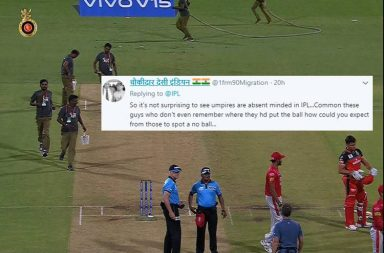 IPL umpire 2019, IPL 2019 blunders, IPL 2019 umpiring howlers, Bruce Oxenford IPL 2019, Chettithody Shamshuddin, Royal Challengers Bangalore vs Kings XI Punjab 2019, RCB vs KXIP 2019, Ball missing IPL 2019, IPL 2019 funny moments