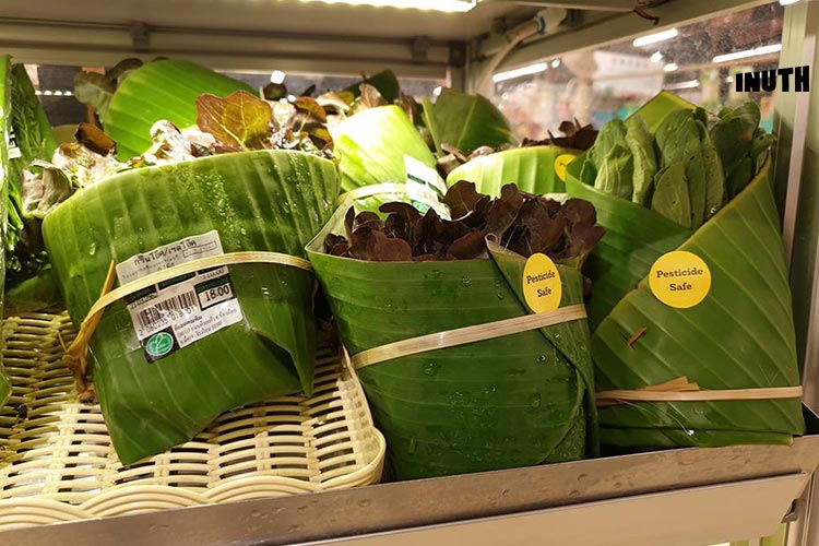 Banana Leaf Packaging Replaces Plastic In This Thai Supermarket