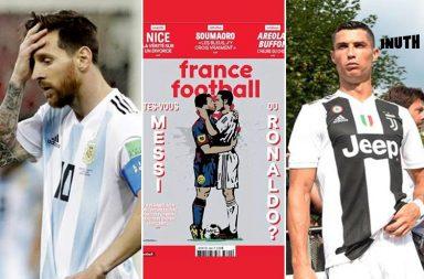 Cristiano Ronaldo, Lionel Messi, Ronaldo Messi kiss, Ronaldo Messi sketch, Ronaldo Messi debate, Champions League 2019, TVBoy sketch Messi-Ronaldo, Messi Ronaldo sketch kiss