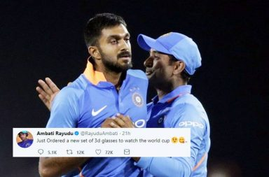 Ambati Rayudu, Ambati Rayudu 3d glasses, Ambati Rayudu No.4. Ambati Rayudu tweet, Vijay Shankar, MSK Prasad, India World Cup squad 2019, World Cup 2019, Sunrisers Hyderabad vs Chennai Super Kings 2019, SRH vs CSK 2019, Rayudu vs Shankar 2019