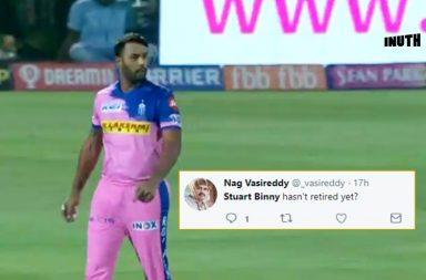 Stuart Binny, Stuart Binny trolled, Stuart Binny IPL 2019, Stuart Binny Rajasthan Royals, Rajasthan Royals vs Royal Challengers Bangalore 2019, Stuart Binny memes, RR vs RCB 2019, Stuart Binny IPL record