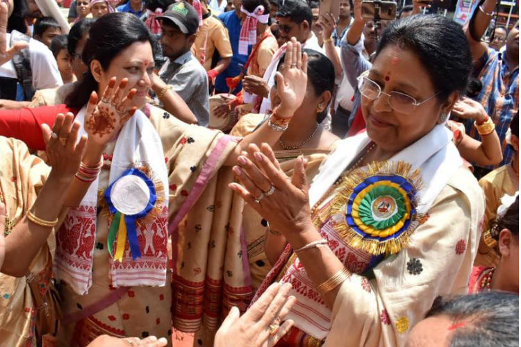 While Parties Exchange Jibes, Assam's Congress, BJP Candidates Celebrated Bihu Together