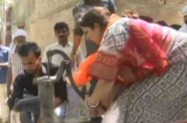 smriti irani hand pump