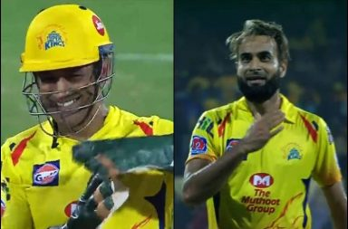 Imran Tahir, MS Dhoni, Imran Tahir celebration, Imran Tahir wild celebration, Imran Tahir funny celebration, Imran Tahir IPL best, Imran Tahir best bowling figures, Chennai Super Kings vs Delhi Capitals, CSK vs DC 2019, IPL 2019, MS Dhoni funny, Shane Watson