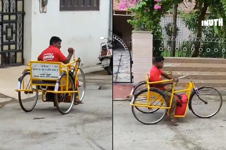 This Video Of A Differently-Abled Food Delivery Guy Is Winning Hearts Online