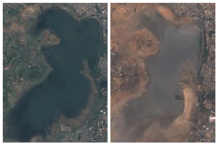 Time-lapse Video Of Reservoirs Drying Up Shows How Chennai Reached Day Zero