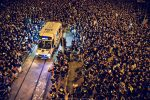 Amid Protests, Thousands In Hong Kong Make Way For Ambulance