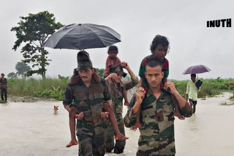 Indian Army Rescues 39 People Stuck in Assam Floods