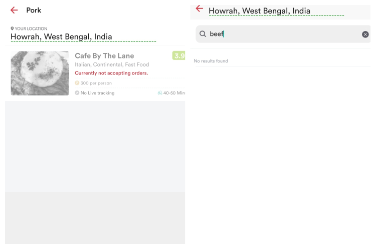 howrah zomato delivery