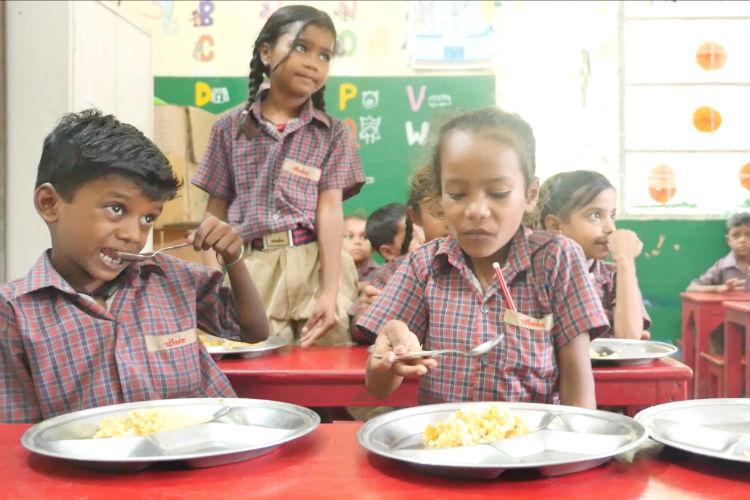 mid day meal diksha school