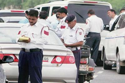 delhi traffic challan
