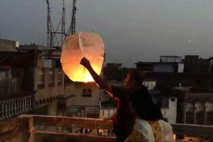 Sky lantern Delhi