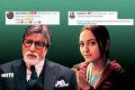 The Vital Difference Between Amitabh Bachchan & Sonakshi Sinha Being 2019's Most Tweeted Handles