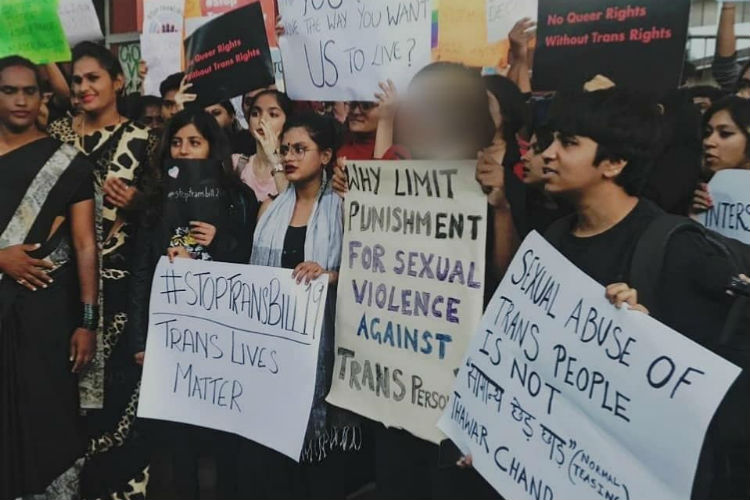 Hundreds Come Out In Bengaluru To Protest Against Transgender Bill