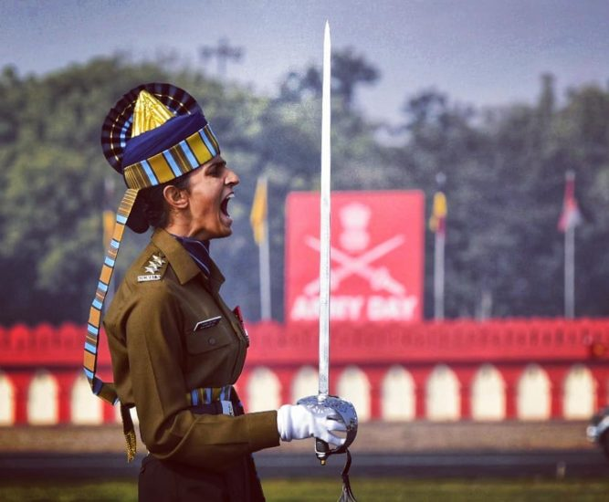 Meet The First Woman To Lead All-Men Contingent At Army Day Parade