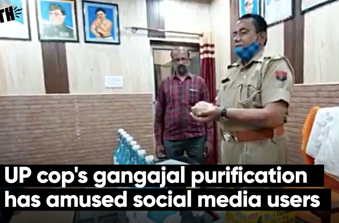 UP cop's gangajal purification has amused social media users